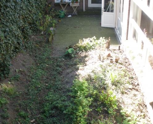 QGardens Tuinontwerp - Situatie ervoor - tuinhuis Amsterdam