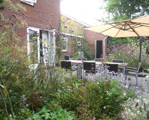 Bloementerras | 1ejaar Bij De Appelschuur | QGardens Tuinontwerp | Gardendesign