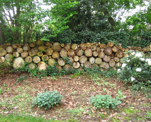 Q Gardens Veendendaal boomstammuur